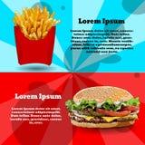 Burger, Fischrogenillustration Stockbilder