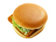 Burger with fish Stock Images