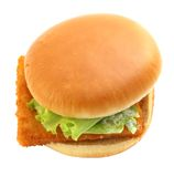 Burger with fish Stock Photo