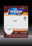 Burger Flyer Template Stock Photos