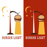 Burger in form of lantern vector design Stock Image