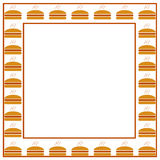 Burger frame Royalty Free Stock Photos