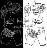 Burger fri επιλογών σχεδίων γρήγορου γεύματος Στοκ φωτογραφία με δικαίωμα ελεύθερης χρήσης