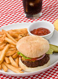 Burger and Fries Stock Photos