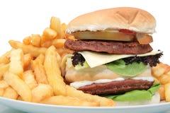 Burger & Fries Royalty Free Stock Photo
