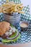 Burger and Fries Stock Photos