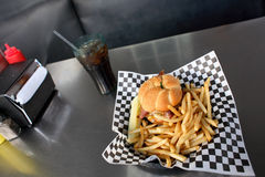 Burger and Fries Royalty Free Stock Images