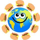 Burger globe royalty free illustration