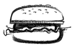 Burger icon Royalty Free Stock Photos