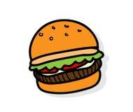 Burger Icon Stock Photo