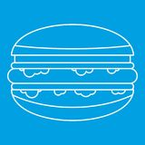 Burger icon outline Royalty Free Stock Photography