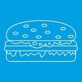Burger icon outline Royalty Free Stock Image