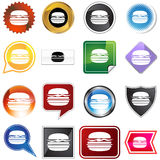 Burger Icon Set Royalty Free Stock Photo