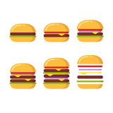 Burger icons set Stock Image