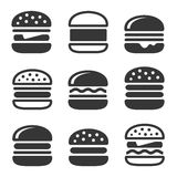 Burger Icons Set Stock Photography