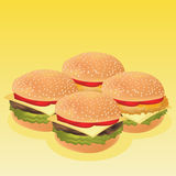 Burger  image. Isolate of Burger  image Stock Images