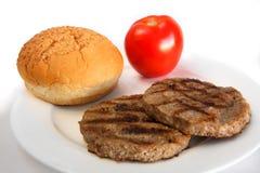 Burger ingredients Royalty Free Stock Photos