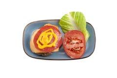 Burger ingredients Stock Photos