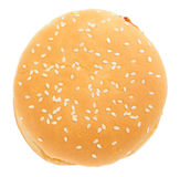 Burger isolated over white Royalty Free Stock Photo