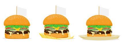 Burger. Isolated burger on transparent background Stock Photo