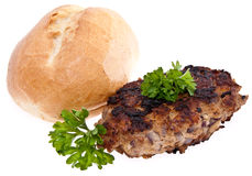 Burger isolated on white background Royalty Free Stock Photos