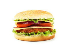 Burger isolated on white background Royalty Free Stock Images
