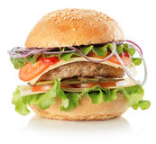 Burger isolated on the white background Stock Photo