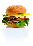 Burger isolated on white  background Stock Image