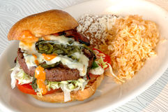 burger jalapeno Στοκ Εικόνες