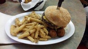 burger juicy Στοκ Φωτογραφίες