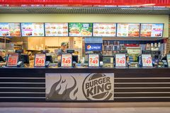 Burger King餐馆 免版税库存照片