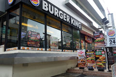 Burger King in Bangkok. BANGKOK, THAILAND- 19 MAY, 2017: American food chain Burger King in Bangkok, Thailand.Burger King is a global chain of hamburger fast Stock Photography