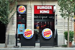 Burger King in Barcelona Royalty Free Stock Images