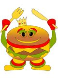 Burger king character Stock Photo