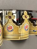 Burger King Crown Fotografia Stock Libera da Diritti