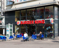 Burger king fast food restaurant Stock Photos