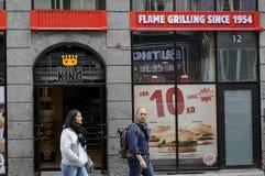 Burger King fasta food łańcuch Obrazy Stock