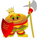 Burger king guardian character Stock Photos