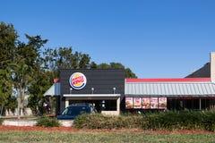 Burger King handlu detalicznego fasta food lokacja Każdy dzień odwiedzają Burger King II, więcej niż 11 milion gości obrazy stock