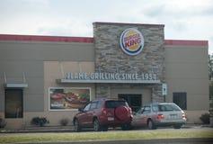 Burger King handlu detalicznego fasta food lokacja Każdy dzień odwiedzają Burger King II, więcej niż 11 milion gości zdjęcie stock