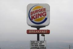 BURGER KING MENY Royaltyfria Bilder
