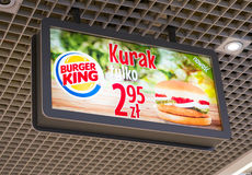 Burger King offer Royalty Free Stock Photography