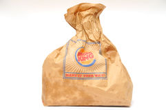 Burger King packaging Royalty Free Stock Photo