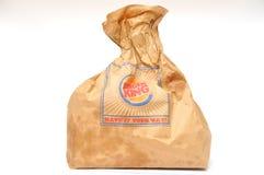 Burger King packaging Royalty Free Stock Photo