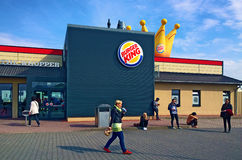 Burger King at rest stop on German motorway Stock Photos