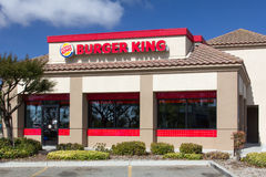 Burger King Restaurant Exterior Stockfotos