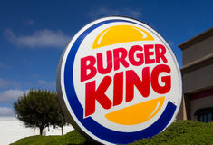 Burger King Restaurant Exterior Royaltyfria Foton