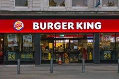 Burger King-restaurant in het centrum van Manchester Royalty-vrije Stock Afbeelding
