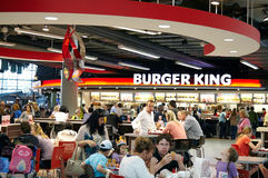Burger King restaurant. At the shopping mall Schiphol Plaza, part of the arrival hall of the airport Schiphol in the Netherlands Stock Photo