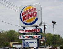 Burger King Restaurant Sign Stock Photo